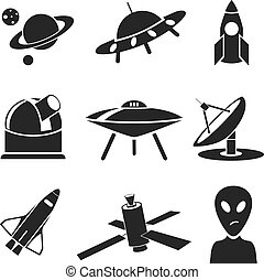 Space. Vector set for you design