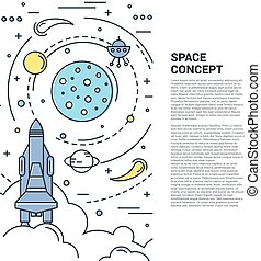 Space Vertical Line Art Concept