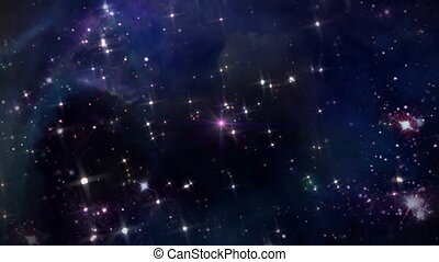 space with pink star cross - the mystery of star glowing in...
