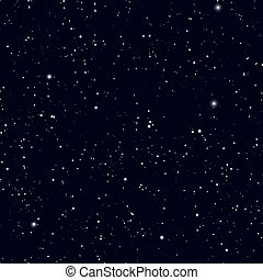 Space with stars vector background. Galaxy and planets in cosmos pattern