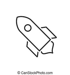 Spacecraft line icon on a white background