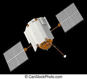 "Spacecraft ""Messenger"". 3D Model."