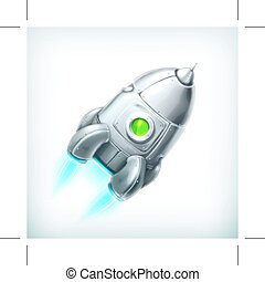 Spacecraft vector icon - Spacecraft, vector icon, isolated...
