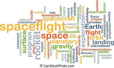Spaceflight background concept