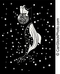 Spaceman catches whale