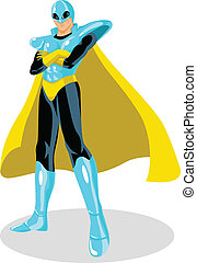 Spaceman - Stock vector of a superhero with spacesuit