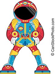 Spaceman with Ray Guns