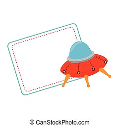 spaceship child toy icon