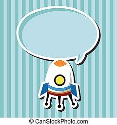 Spaceship flat icon elements background,eps10