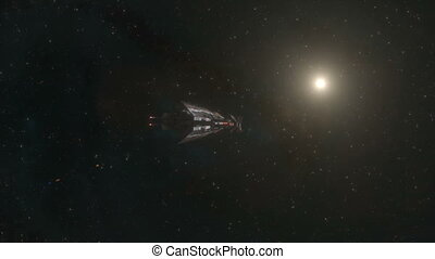 Spaceship Fly By