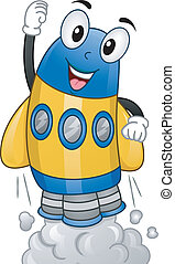 Spaceship Mascot - Mascot Illustration of a Spaceship About...