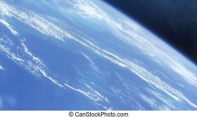 Spaceship out of Control in Earth Orbit - This shot shows a...