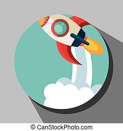 Spaceship rocket icon