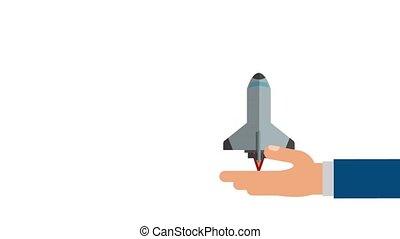 Spaceship taking off HD animation - Spaceship taking off...