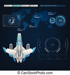 spaceships aircraft with future sight action mode interface