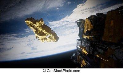 spaceships, boeiend, motherships, massief, aarde, bekend,...