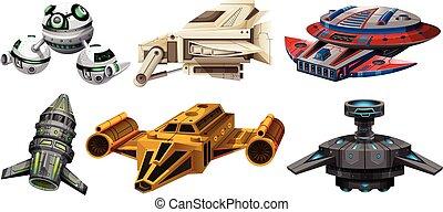 spaceships, conception, différent