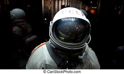 Spacesuit in display in The Memorial Museum of Cosmonautics