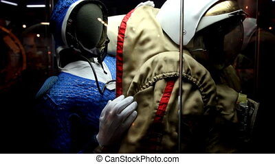 Spacesuit in The Memorial Museum of Cosmonautics. - Moscow,...