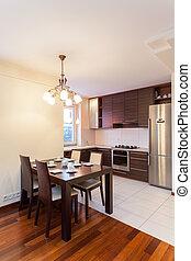 spacieux, appartement, -, cuisine