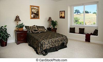 spacieux, chambre à coucher