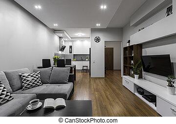 spacieux, et, moderne, appartement