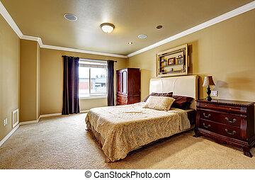 spacieux, maître, chambre à coucher, intérieur