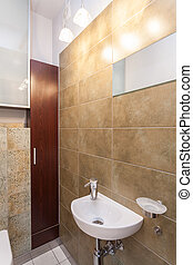 Spacious apartment - Wash basin in a small bathroom