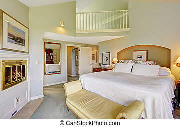 Spacious beautiful bedroom with deck