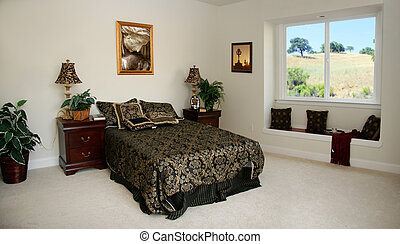 Spacious bedroom - The pictures on the wall are my own ...