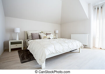 Spacious bedroom with twin bed