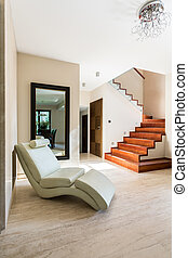 Spacious bright corridor with place to rest - Spacious and ...
