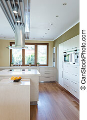Spacious bright kitchen
