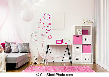 Spacious child room