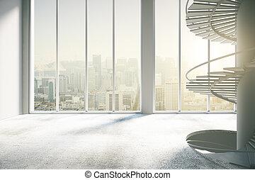 Spacious concrete interior