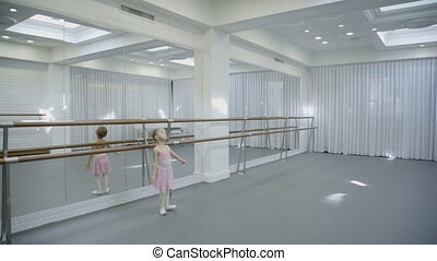 Spacious dance studio includes teacher and girls for...
