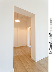 Spacious hall with white walls - Spacious, minimalist hall ...