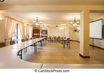 Spacious interior for business meeting