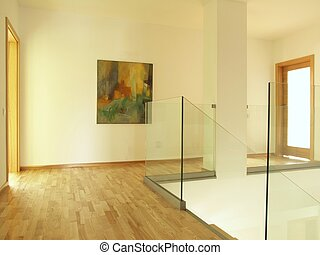 Spacious modern hallway