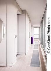 Spacious new design white interior