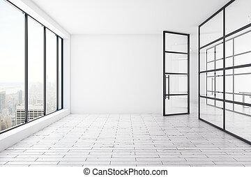Spacious office interior - Spacious unfurnished office...