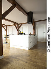 Spacious open space with kitchen - Spacious open space...