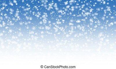spadanie, ożywienie, śnieg