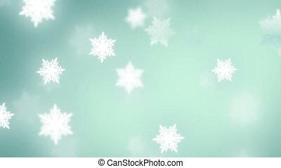 spadanie, płatki śniegu, tło