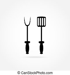spade and fork for grill icon