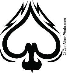 Spade celtic tattoo design clip art