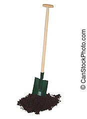 Spade - Garden spade isolated on white background