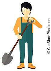 spade., landwirt