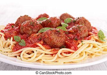 spagetti kött och kulor