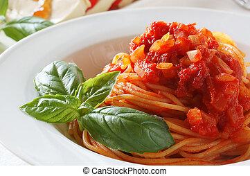 spagetti, pomodoro